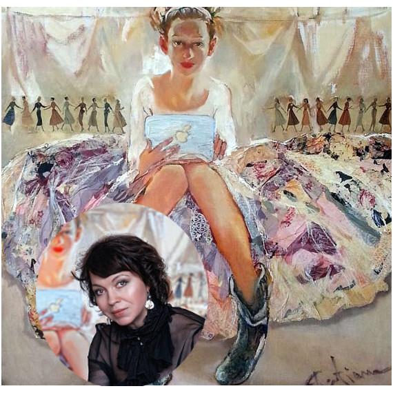 Коллаж Татьяна Полищук и картина Фрея
