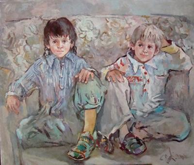 Василь и Саша,110Х90,2009,20014