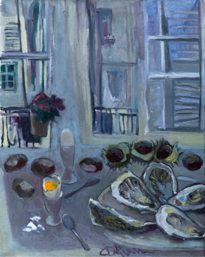Завтрак в Париже, 90Х70,2015