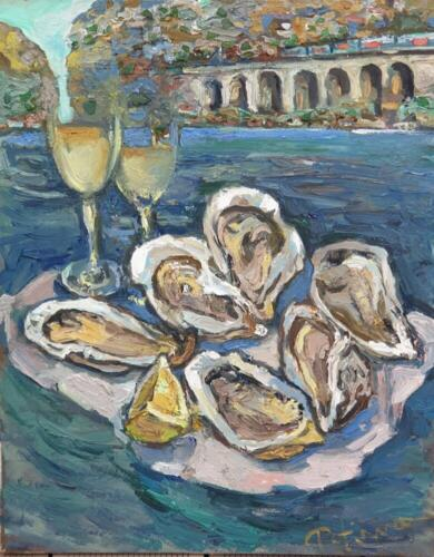 Завтрак на берегу моря, 50×40