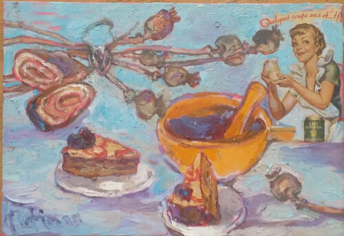 Маковичный торт,38Х55,2015 (1)