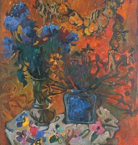 Осенний натюрморт,90Х70,1993,1024