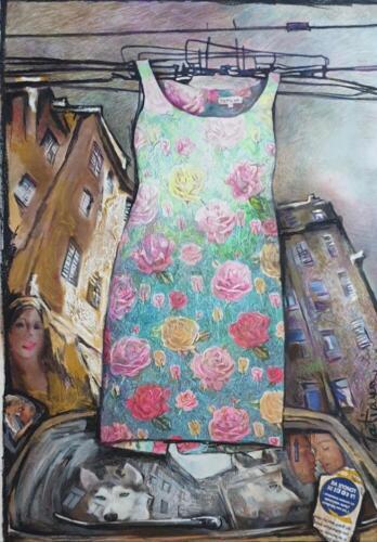 Платье долглй жизни(La Robe de Longue Vie), 100Х70,2019 (1)