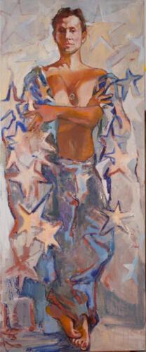 Портрет Вячеслава Манучарова(Звездный мальчик), 165Х65,2013