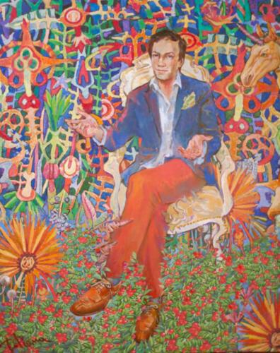 Портрет Овчинникова,150Х120,2013, (1)