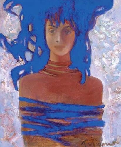 Портрет синий,60Х48,1998,1074