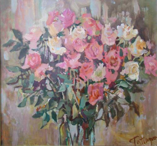 Розы, 85Х60,2003