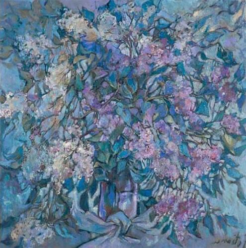 Сирень,100Х100,1996,1028