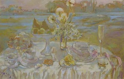 Утренний чай,80Х120,2004,1117